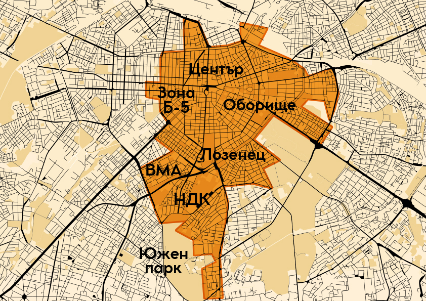 map with areas